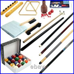 Pool Table Accessories Set Billiard Snooker Kit 32 Piece Cue Ball Indoor Game