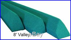 Pool Table Rails for 8' Valley, Covered, Plus Bed Cloth