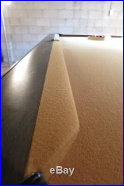 Pool Table Vintage 8 ft gold felt Early 70s one piece slate