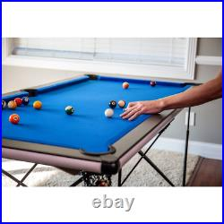 Portable Foldable Pool Table Billiard Game Set 6' Cues Rack Accessories Included