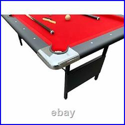 Portable Pool Table 6 Ft Indoor Game Easy Folding Storage Hathaway Fairmont