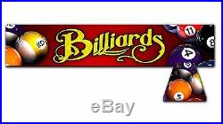 RED BILLIARDS, Back lit Pool Table Light Billiards Lamp