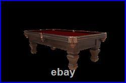 Ramsey Pool Table 8' with Hidden Storage Drawer Dark Walnut Finish FREE Ship