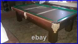 Rare 90 Year Old Brunswick Convertible Rails Billiards/pool Table