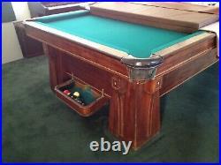 Rare Antique Brunswick Arcadia 9' pool table