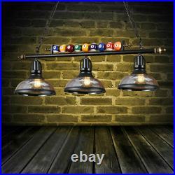 Retro Billiard Light Pool Table Light Bar Hanging Black Billiard Lamp Chandelier