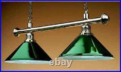 Rosetta New Brass Pool Billiard Snooker Table 2 Light Shade Island Lighting