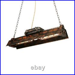 Rustic Steampunk Ceiling Light Vintage Iron Island Pendant Lamp for Pool Table