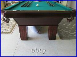Slate Pool table green felt includes rack, balls, Cover, stick holders