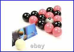 Special Aramith Black And Pink Pool Balls + Silver 8 Ball Home Pool Tables