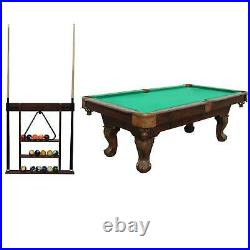 Sportcraft 7.5' Pool Table w Cue Rack & Accessories (Refurbished)