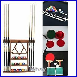 Stafford 7' Billiards Pool Table with Table Tennis, Slide Hockey and Cue Rack