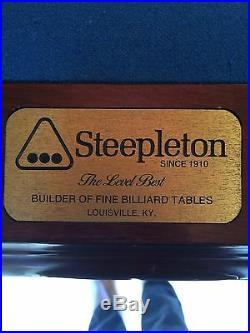 Steepleton Regulation Pool Table Cherry wood slate top with royal blue felt