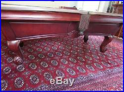 Stratford Chippendale Style Pool Table, Billiards, Balls, Cues, Accessories