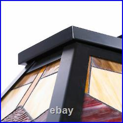 UL Listed Tiffany Style 3-Light Pool Table Hanging Fixture Steel Construction