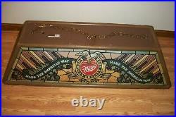 VINTAGE 1987 Miller High Life Beer Pool Table Light Hanging Bar Sign 47