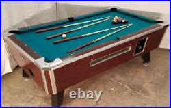 Valley Commercial Coin-op 8' Pool Table Model Zd-4 New Green Cloth