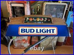 Vintage 1980s BUD LIGHT BEER Pool Table Light / Sign