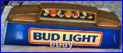 Vintage 1986 Bud Light Pool Table Light Billiard Balls Man Cave (14 X 40)