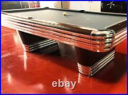 Vintage Brunswick Centennial Model Pool Table 9' Rosewood