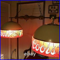 Vintage Coors Beer Pool Table Light Sign