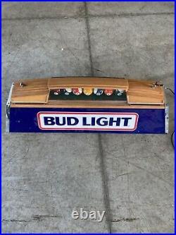 Vintage Hanging Pool Table Light 40 Bud Light Florescent /three 60w Bulbs 1989