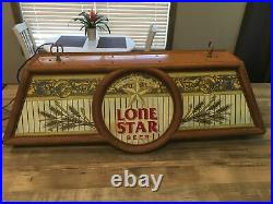 Vintage Lone Star Beer bar pool table light