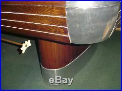 Vintage/antique Brunswick Billiards 8' Anniversary pool table